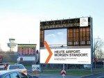 Entwicklungsgesellschaft wirbt am Noch-Airport TXL für die Zeit danach (Foto: Initiative Airport Meida)