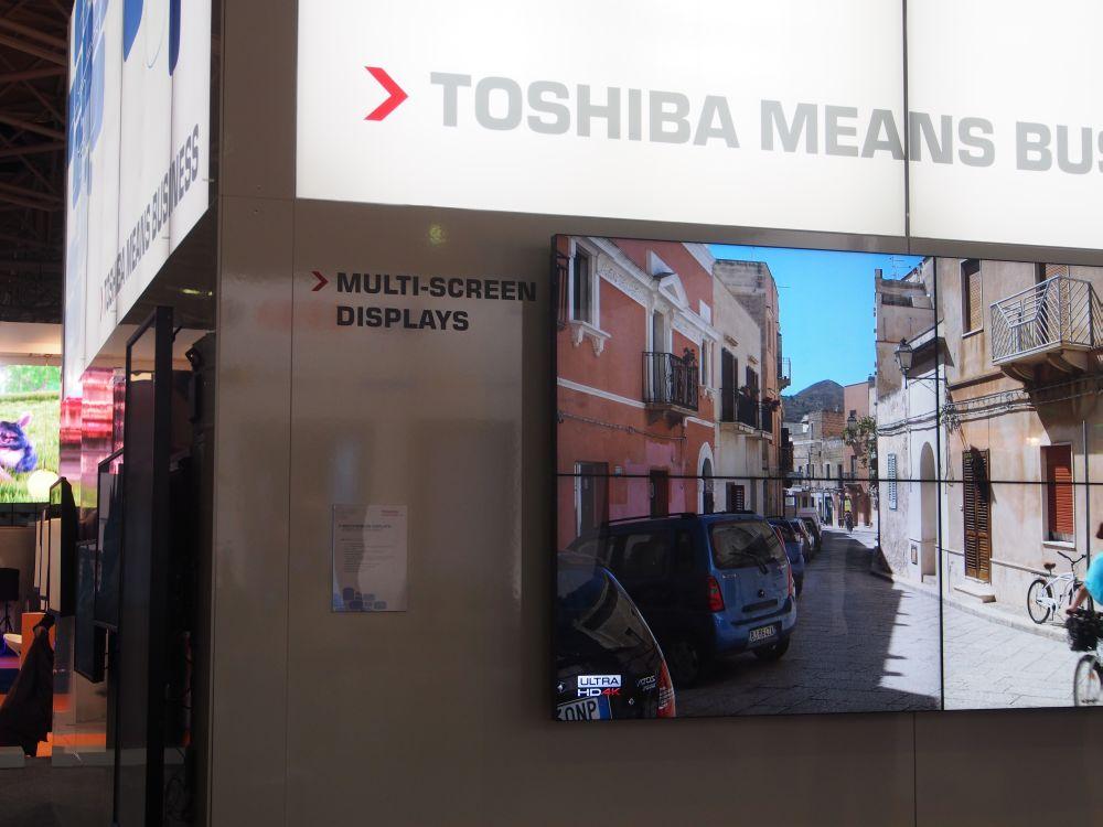 Toshiba zeigte in Amsterdam erstmals sein neues DS-Portfolio (Foto: TK/ invidis.de)