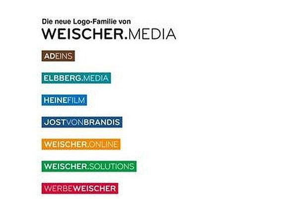 Neue Logos der Töchter von Werbe.Weischer (Screenshot: invidis.de)