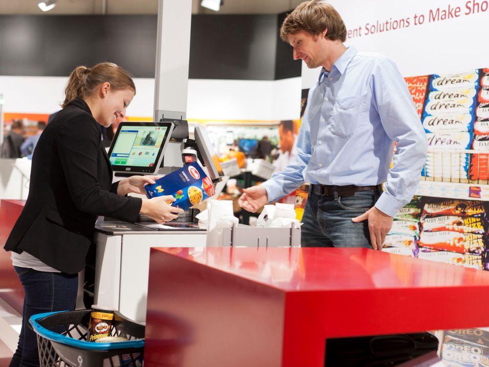 Wincor Nixdorf zeigt in Düsseldorf auch seine Hybrid-Self-Checkout-Lösung BEETLE/iSCAN EASY (Foto: Wincor Nixdorf)