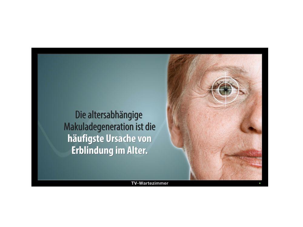 Altersabhängige Makuladegeneration: TV-Wartezimmer informiert in Filmen über die Risiken (Foto: TV-Wartezimmer)