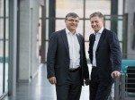 Nachfolger Christian Petit (l.) und Andreas König (r.)  (Foto: Swisscom)