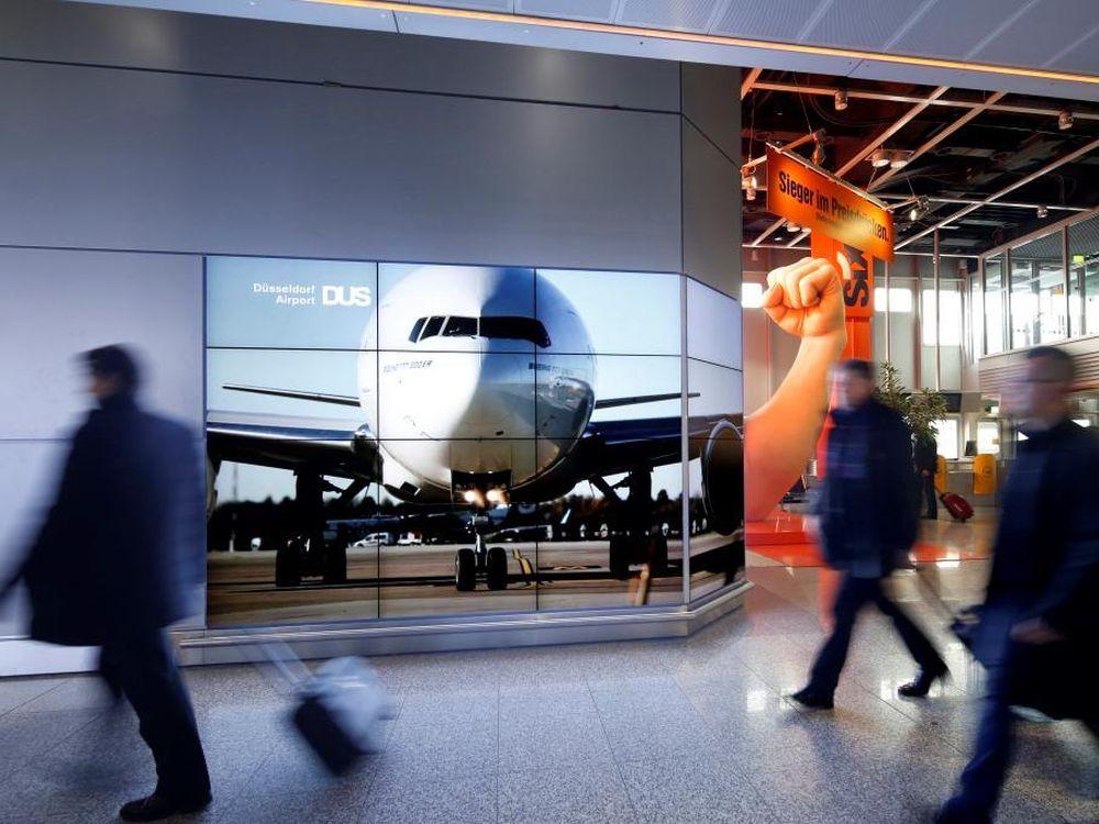 Am Flugsteig A werden seit Anfang 2014 auch die Lufthansa-Fluggäste erreicht (Foto: Andreas Wiese/ Flughafen Düsseldorf)