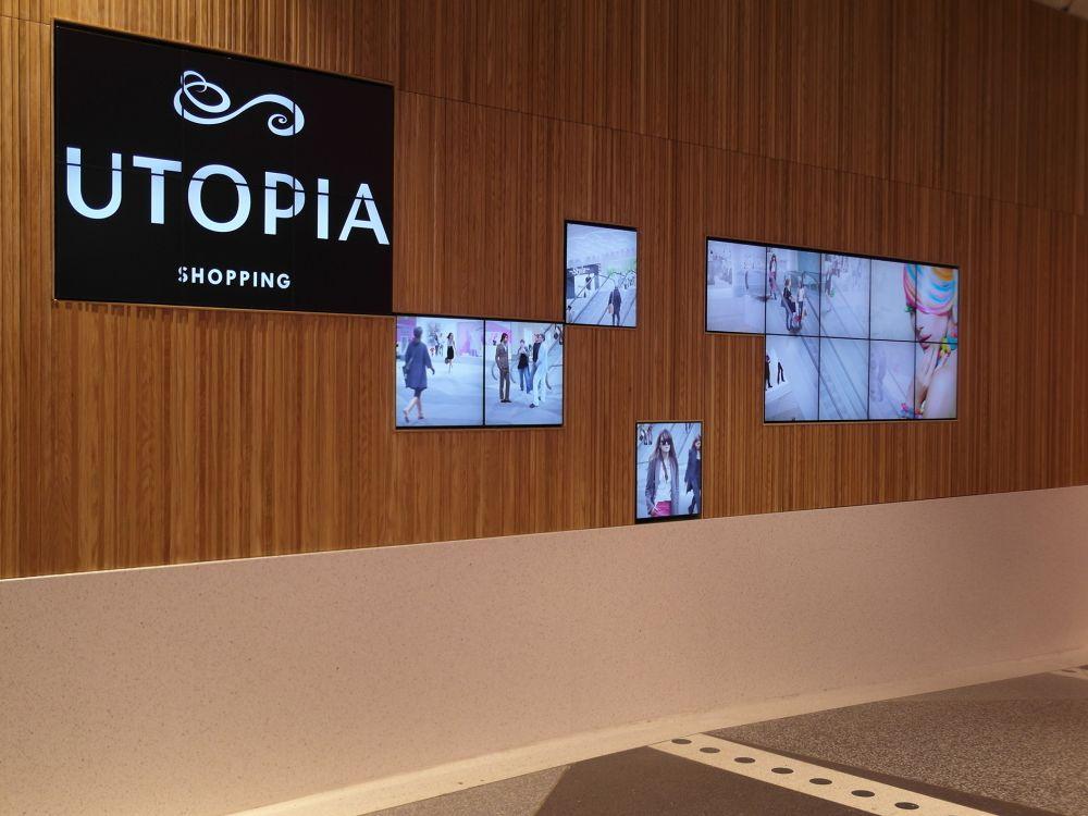 Digital Signage in der neuen Utopia Mall in Umeå (Foto: eyevis)