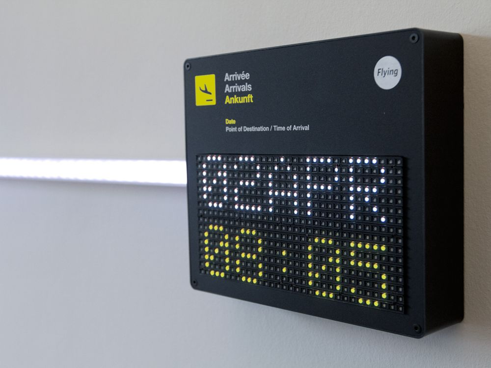 App an der Wand gebracht: Panel und LED Schlauch (Foto: Flying.com)