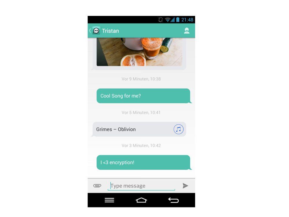 Hoccer XO: Screenshot der Android-Variante der App (Foto: Hoccer)