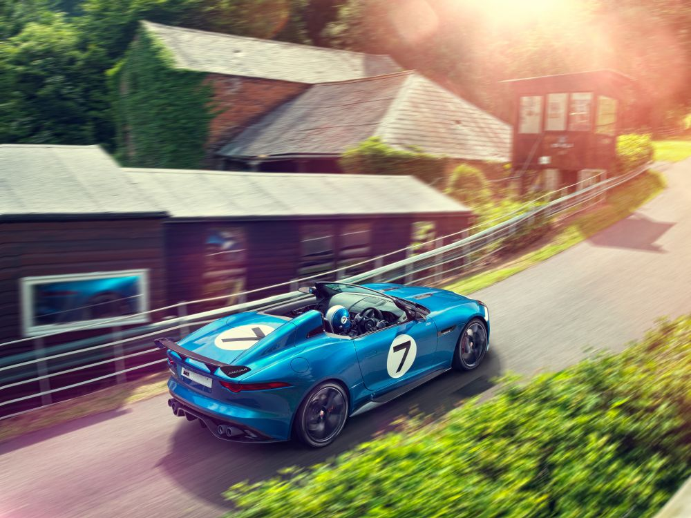 News-App von Airmotion fährt künftig mit - Jaguar Project 7 beim Goodwood Festival of Speed 2013 (Foto: Jaguar)