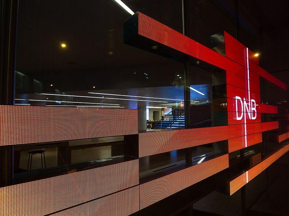 LEDON: auf der Viscom 2013 prämierte Installation für die norwegische Bank DNB (Foto: LEDCON)