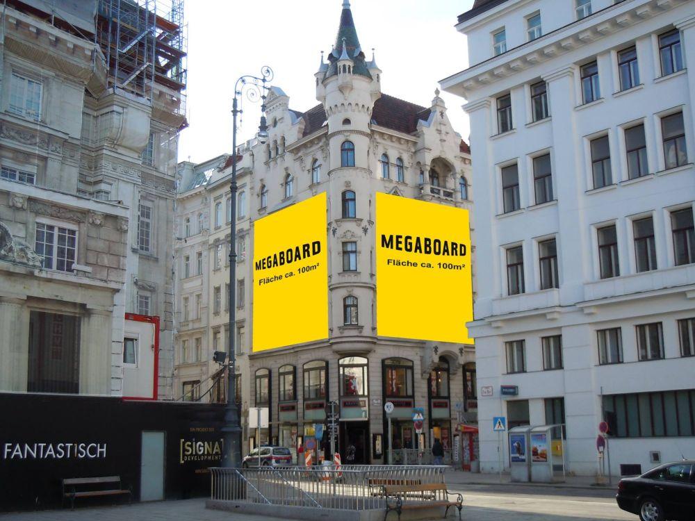 """""""Am Hof"""" - Megaboard-Werbefläche im 1. Wiener Bezirk (Foto: Megaboard)"""