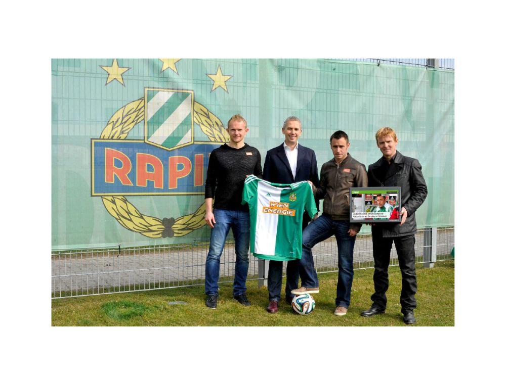 Rapid Wien und Infoscreen Austria sind nun Medienpartner (Foto: Infoscreen Austria)