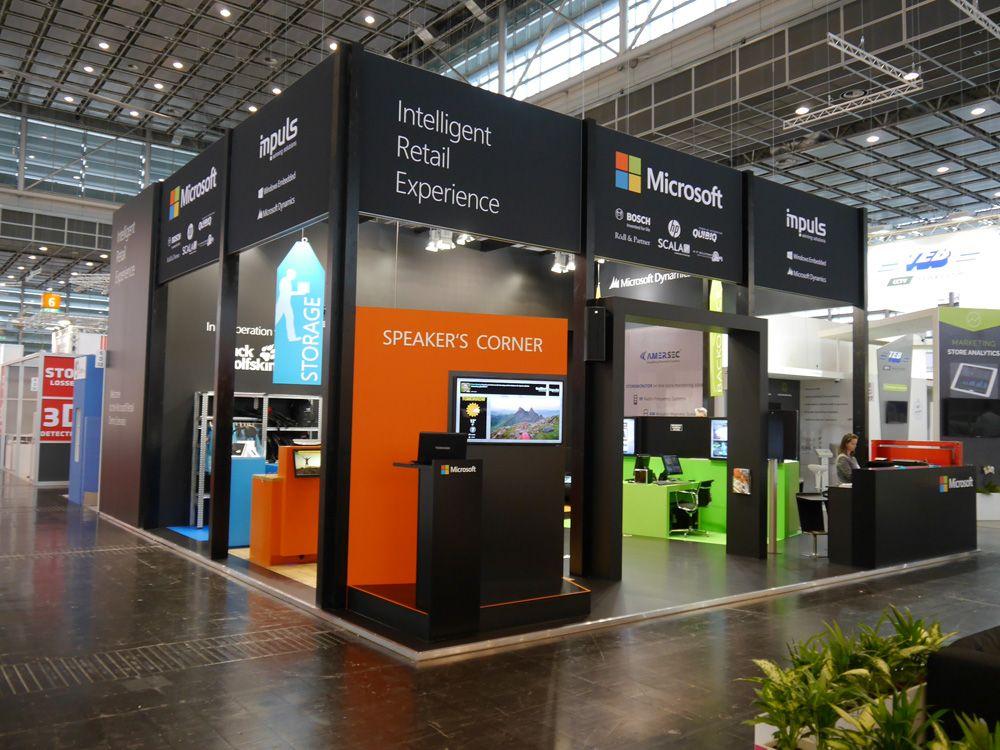 EuroShop 2014: Messestand mit Retail-Szenario von Scala und Microsoft,