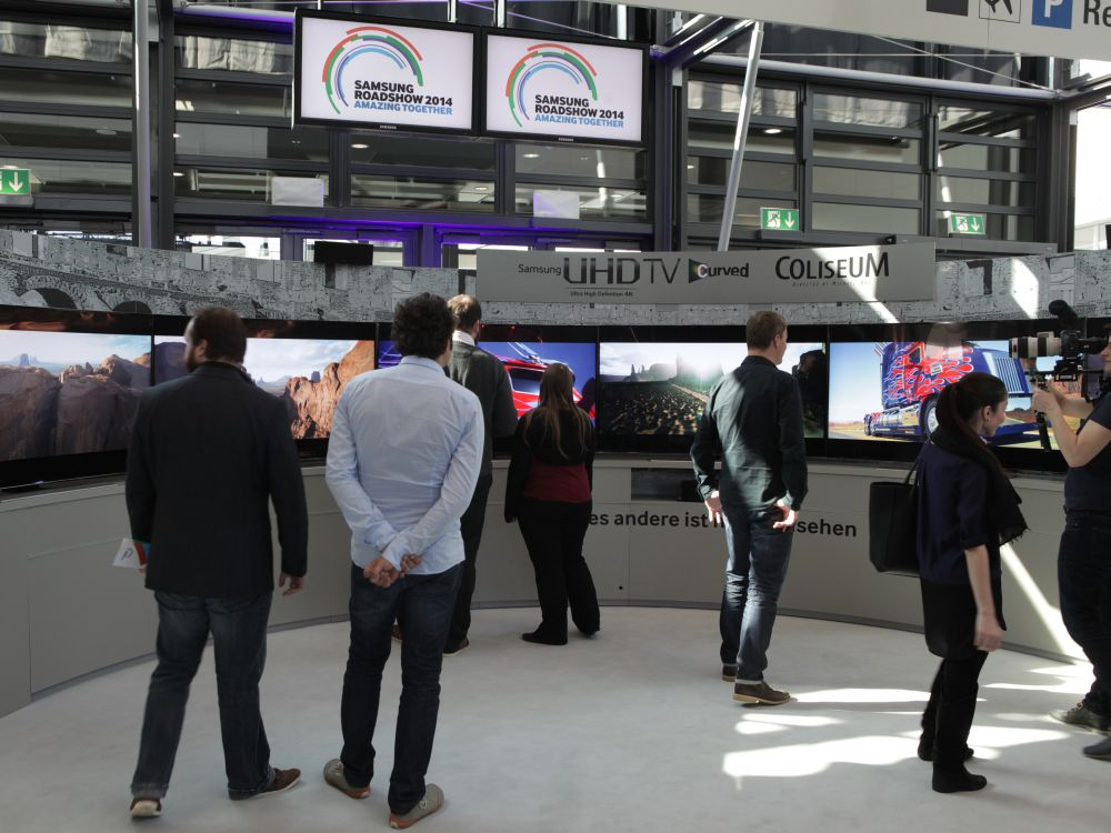 Samsung Roadshow in Frankfurt: 78 Zoll großer Curved UHD TV HU8500 (Foto: Samsung)