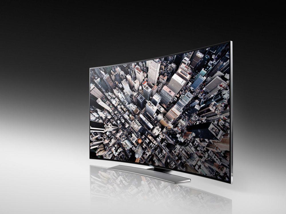 """Samsungs Curved Ultra HD HU8590 ist als 55-Zöller, in 65"""" oder 78"""" lieferbar (Foto: Samsung)"""