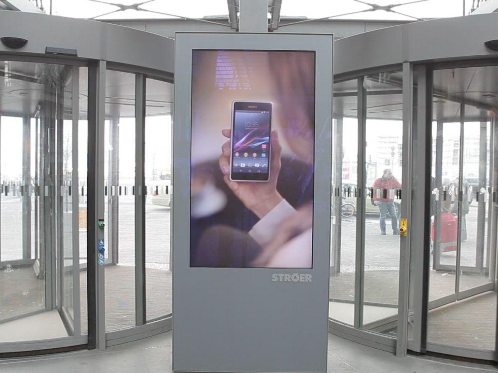 Digital-out-of-Home-Kampagne für das Sony Xperia Z1 Compact (Foto: Ströer)
