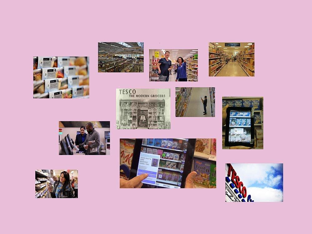 Alles an seinem Platz: Tesco testet AR-Technologien am Point of Sale (Fotos: Tesco, IBM; Montage: invidis.de)