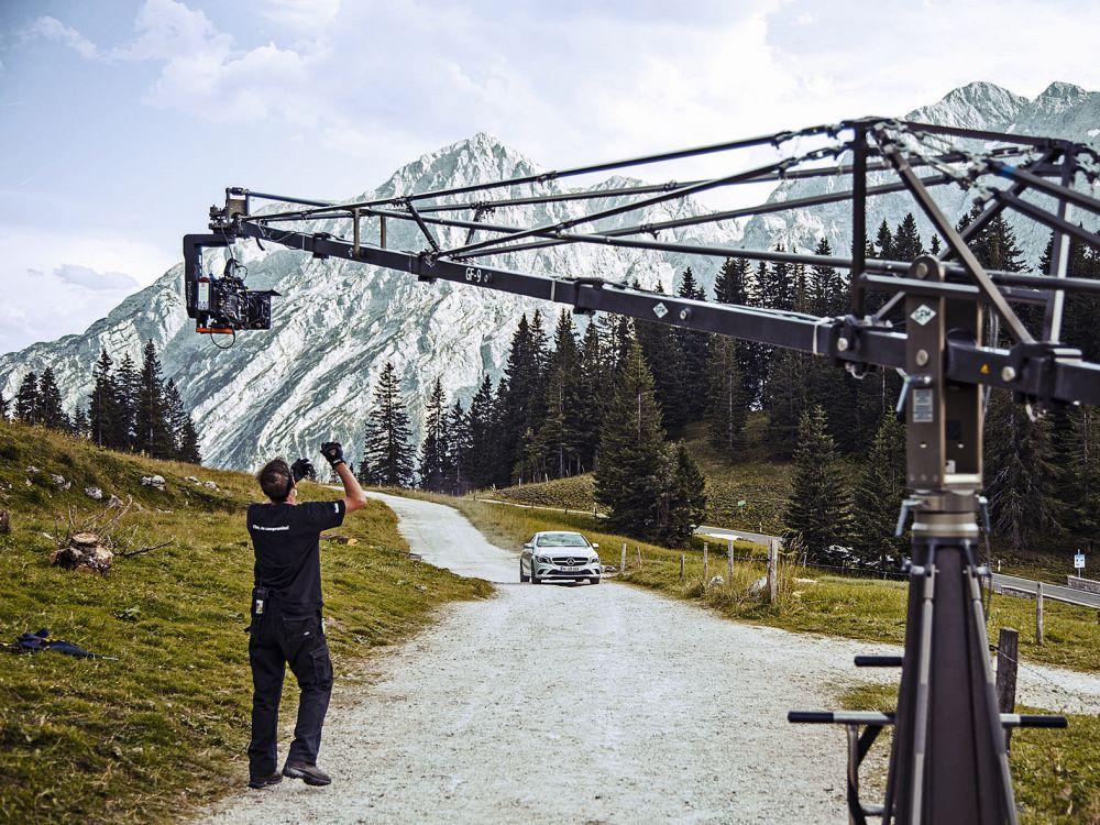 """""""Vaterfreuden"""": Dreharbeiten zum Advertorial für Mercedes Benz (Foto: Weischer.Media)"""