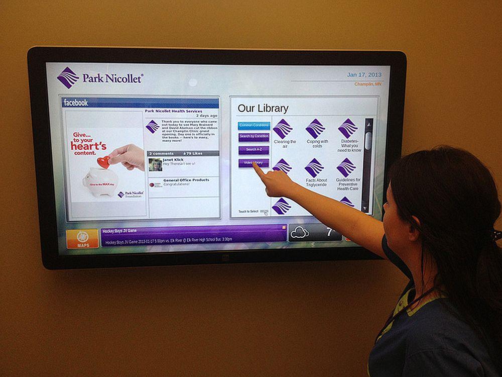 Umsetzung mit Lösung von X20 Media für die Park Nicollet-Klinik in Minnesota (Foto: X20 Media)