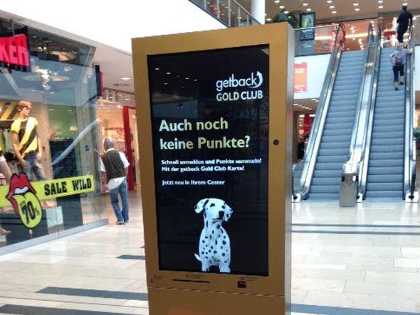 dimedis' System kompas im Einsatz in einer Shopping-Mall (Foto: dimedis)