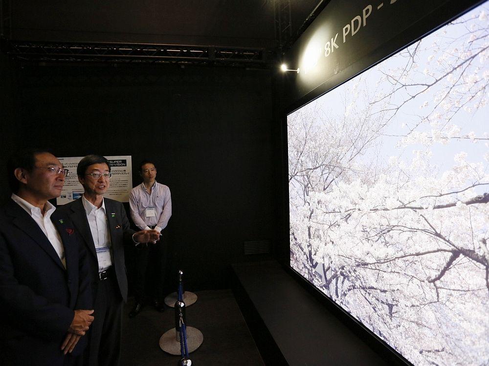 Panasonic präsentierte dieses 8K/ Super Hi-Vision-Display auf der CEATEC 2012 (Foto: Panasonic)