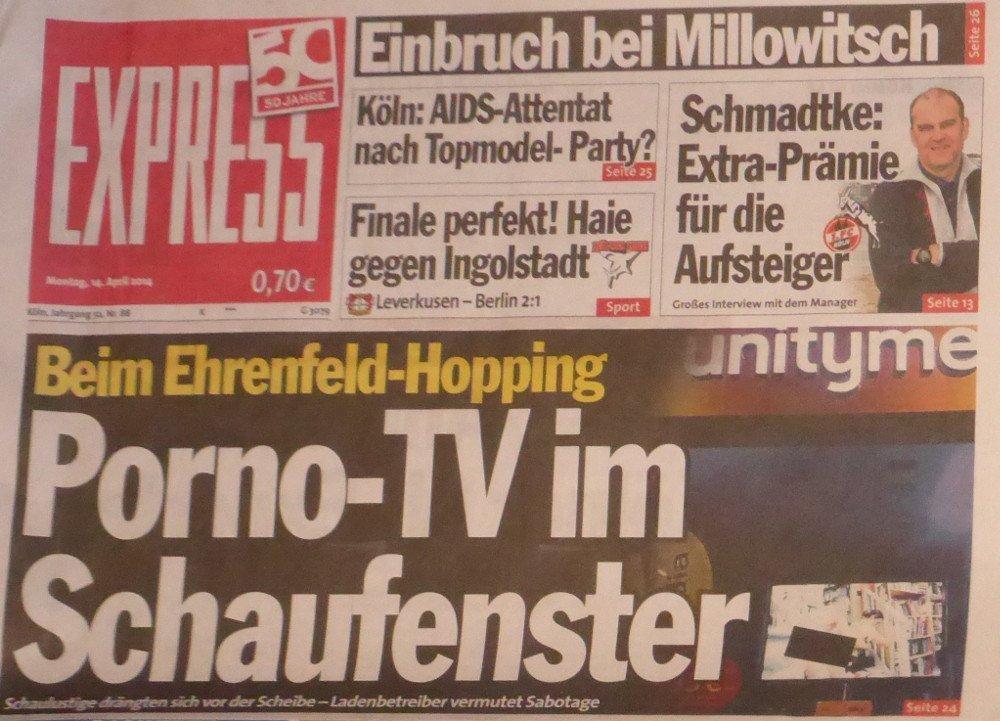 Kölner Express: Schaufenster Panne