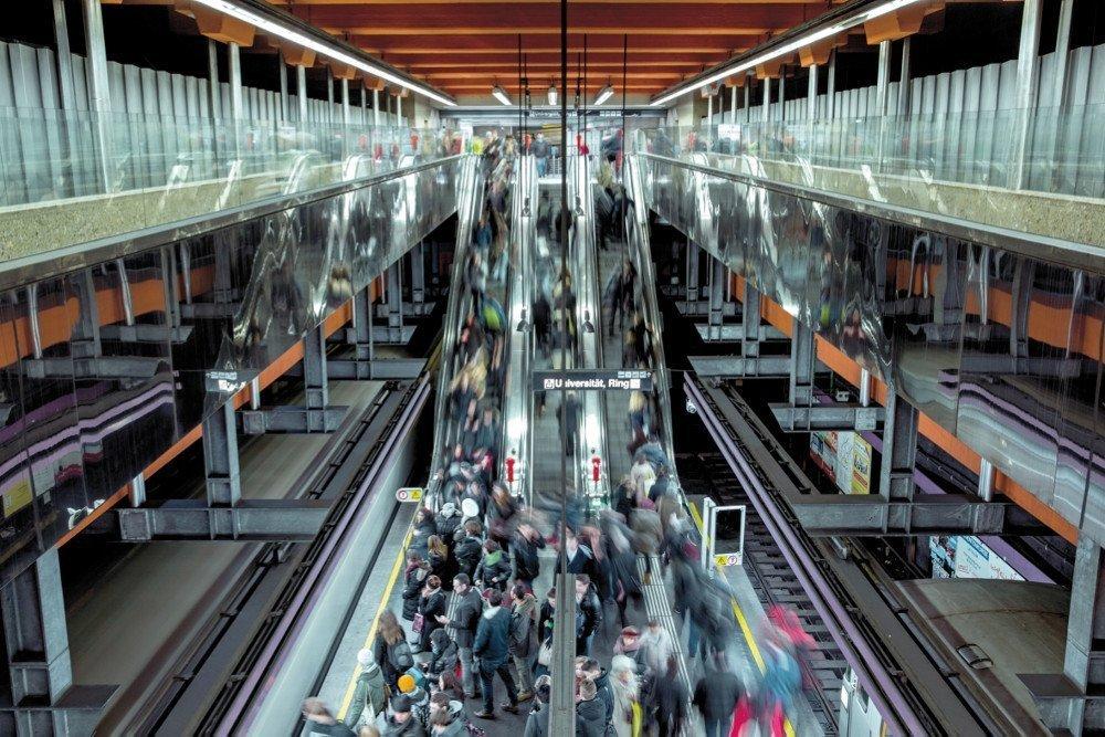 Rekordreichweite für Infoscreen Austria in Wien (Foto: Severin Wurnig/Wiener Linien)