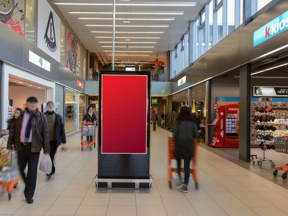 "Migros-Shopping Mall mit 70 Zoll ""Shopping ePanel"" (Foto: APG