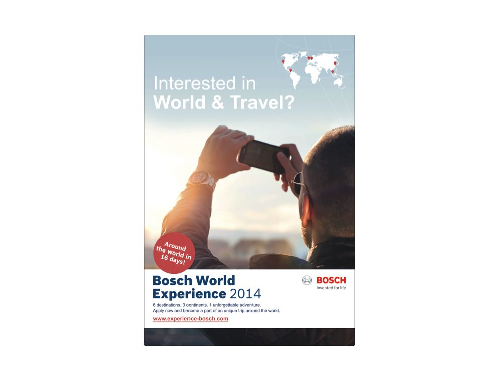 """""""Bosch World Experience"""": Über Außenwerbung wird die Kampagne angeschoben (Grafik: GFMO OMD)"""