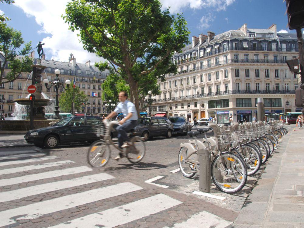 Läuft wie geschmiert: Fahrradleih-System Vélib'in Paris (Foto: JCDecaux)