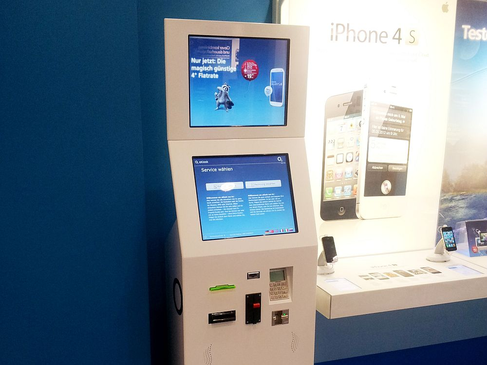 Kiosk-Lösung für O2 (Foto: Kiosk Solutions)