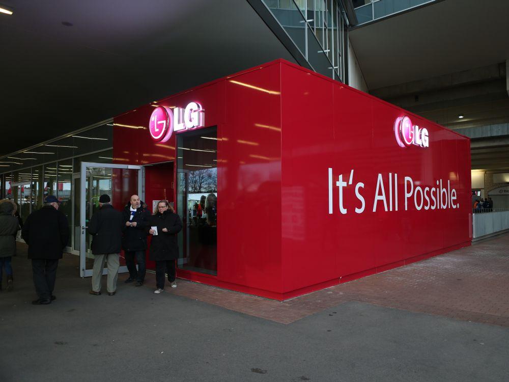 Eröffnung des Brand Store von LG in der BayArena Mitte Februar 2014 (Foto: LG)