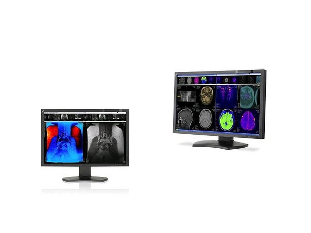 Aus dem NEC-Portfolio für den Gesundheitsmarkt: Medical Displays MD242C2 und MD302C4 (Fotos: NEC; Montage: invidis.de)