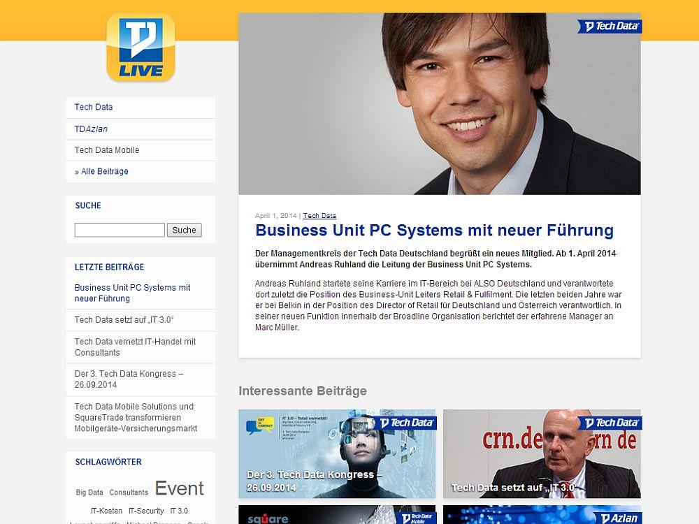 """Screenshot des neuen """"TD Live""""-Blog (Screenshot: invidis.de)"""