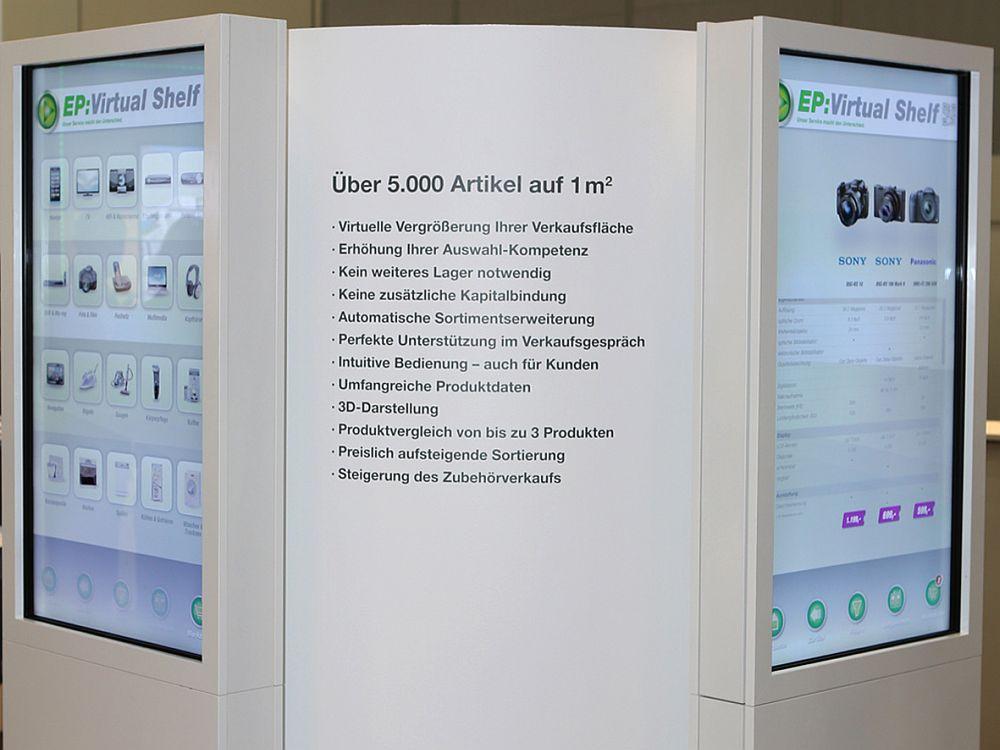 Bisher sind 100 Virtual Shelves in Deutschland installiert; 150 folgen in den kommenden Wochen (Foto: ElectronicPartner)