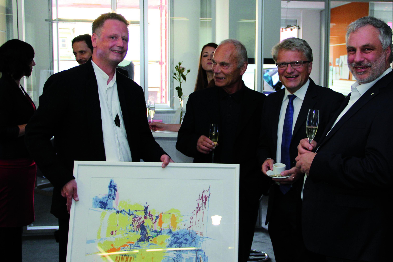 15 jahre y-doc feierten hier: Michael Richter - Prim. i.R. Dr. Roman Stadler - BM Dr. Klaus Lugner - Präs. Dr. Christoph Reisner, MSc