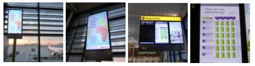 Glimpse at the digital signage of the new London Heathrow T2