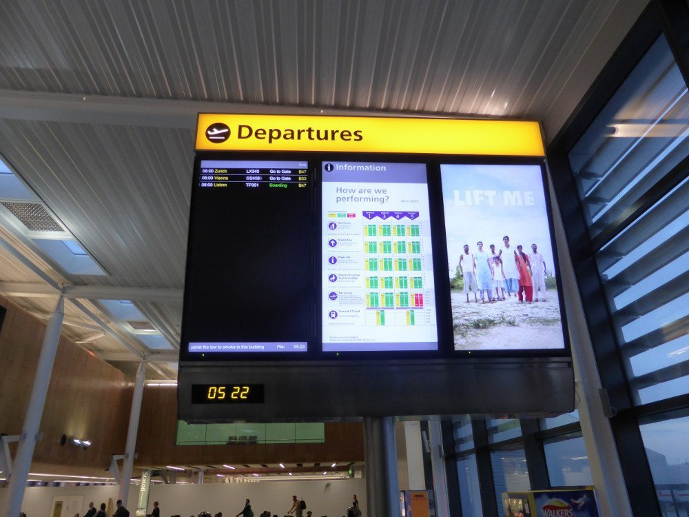 London Heathrow T2 Gate Signage