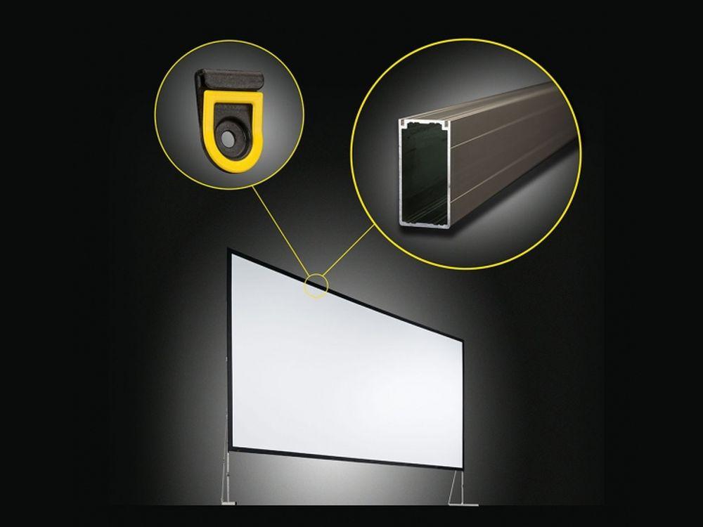 Einsatz bei Messe- und Rental-Einsätzen: VarioClip soll die Installation von Leinwänden für Projektoren vereinfachen (Foto: AV Stumpfl)