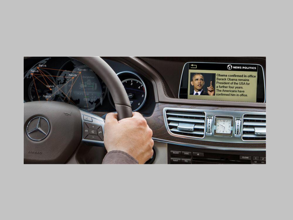 Der Münchner Anbieter hat nun das einmillionste Daimler-Auto mit seiner News-App versorgt (Foto: Aimotion)