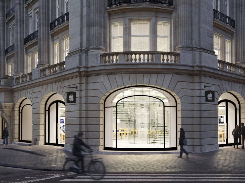 Apple Store in Amsterdam: Gibt's hier bald die iWatch mit LuxVue-Displays zu kaufen? (Foto: Apple)