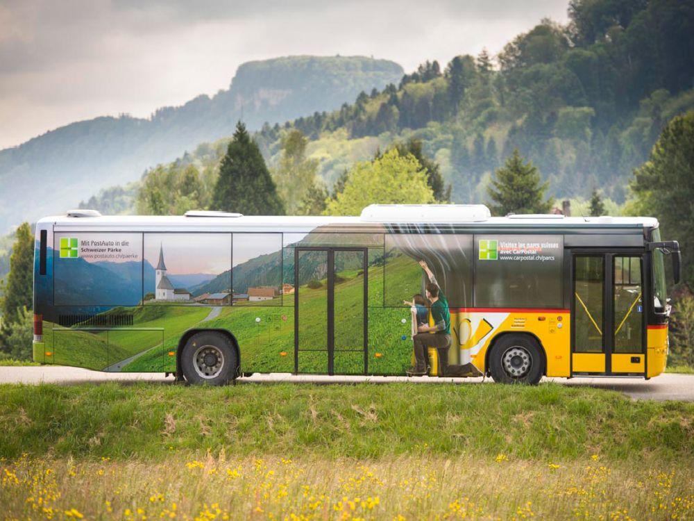 """Bis Ende Oktober 2014 im Einsatz: """"Pärke""""-Postauto-Bus (Foto: PostAuto Schweiz AG)"""