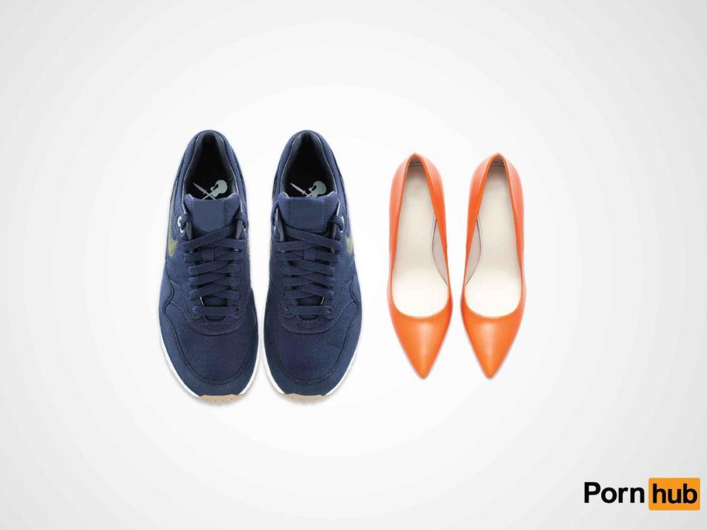"""Eindeutig, aber nicht jugendgefährdend: Entwurf """"Shoes"""" (Foto: Pornhub)"""