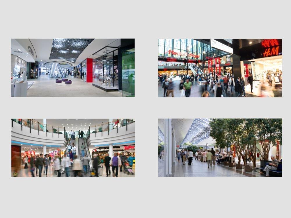 Shopping Malls aus dem deutschen Unibail-Portfolio (Fotos: Unibail-Rodamco; Montage: invidis.de)