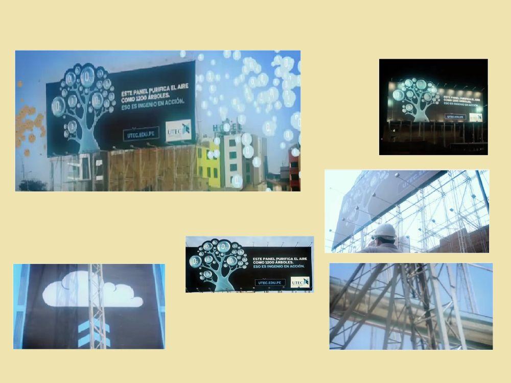 Trotz Baustelle bessere Umgebungsluft durch das UTEC-Billboard (Screenshots/ Grafik: invidis.de)