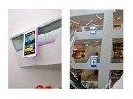 Displays über mehrere Stockwerksebenen an gut sichtbaren Bereichen (Fotos: DynaScan)