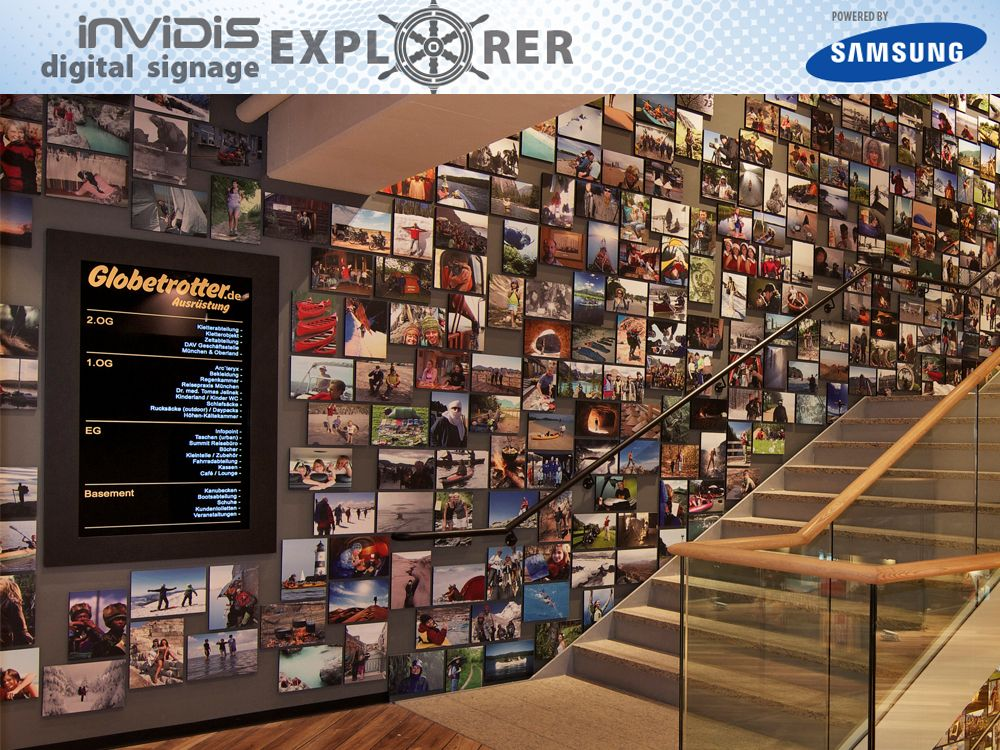 invidis Digital Signage Explorer - Globetrotter (Bild: Globetrotter)