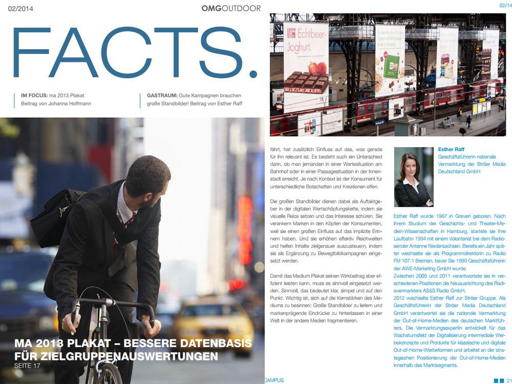 """Die neue Ausgabe der """"OMG Outdoor Facts"""" 2/2014 (Quelle: OMG Outdoor)"""