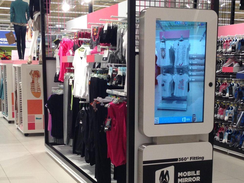 Mobile Mirror im neuen Hypermarket von Carrefour (Foto: xplace)