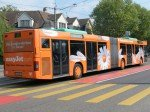 BVB-Bus mit Werbung für EasyJet (Foto: Basler Verkehrs-Betriebe)