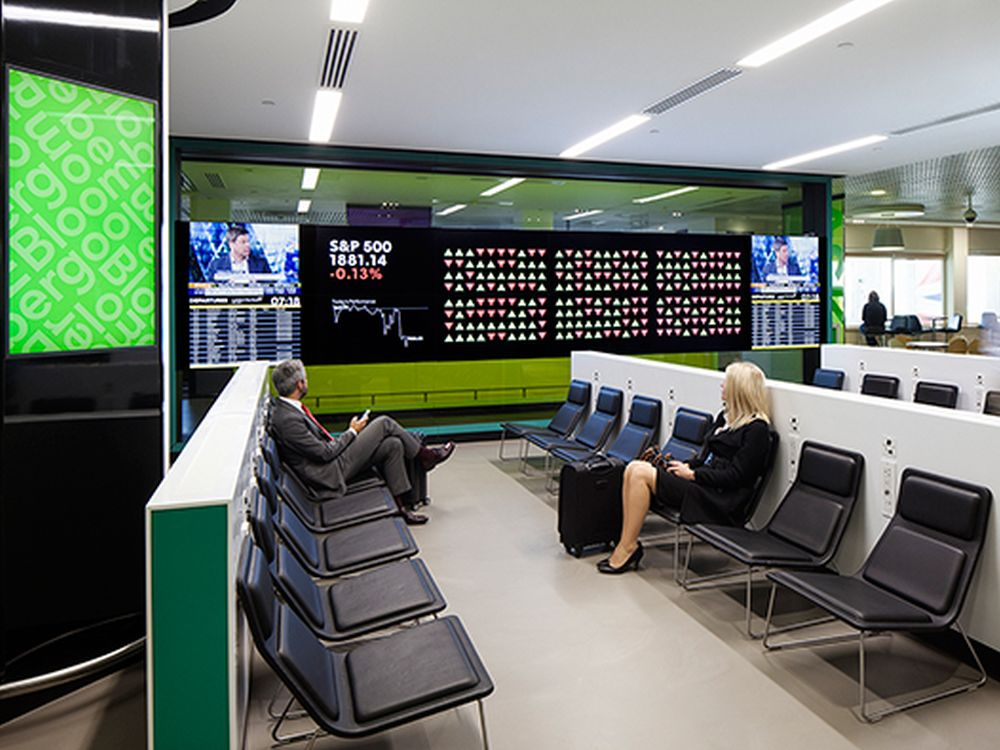 Die Media Wall besteht aus 12 UHD-Displays (Foto: Bloomberg)