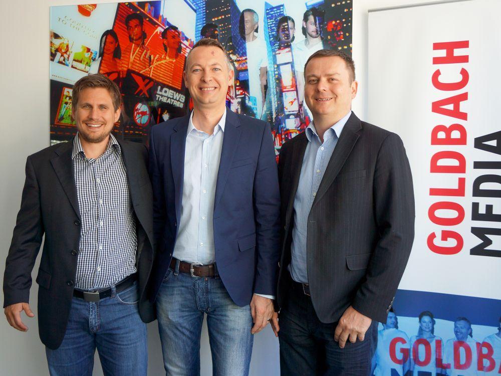 Horst Brunner, Josef Almer (beide Goldbach Media Austria), Markus Hartl (TMC) (Foto: Goldbach Media Austria)